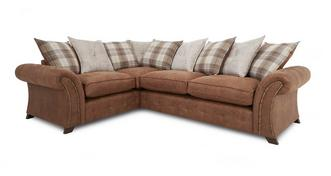 Woodland Right Hand Facing 3 Seater Pillow Back Corner Deluxe Sofa Bed