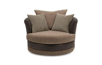 Large Swivel Chair Wyndham Rib