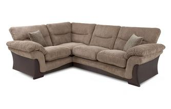Right Arm Facing 2 Piece Corner Sofa Wyndham Rib