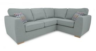 Zapp Left Hand Facing 2 Seater Corner Sofa Bed