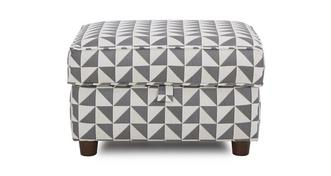 Zinc Pattern Storage Footstool