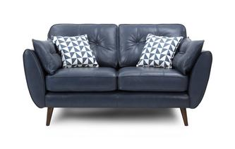 2 Seater Sofa Zinc Leather