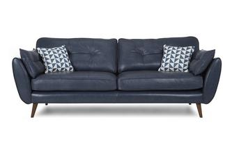 4 Seater Sofa Zinc Leather