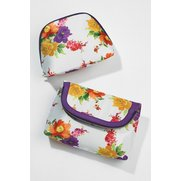 2-Piece Floral Cosmetic Bags