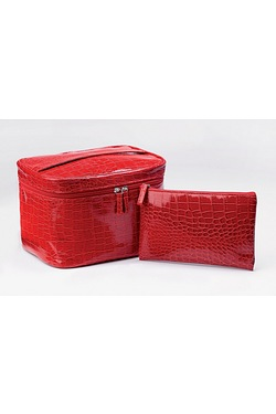Red Cosmetic Bag Set