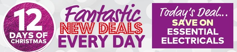 12 Days Of Fantastic Christmas Deals - Day 8 - Super Saving On Electricals