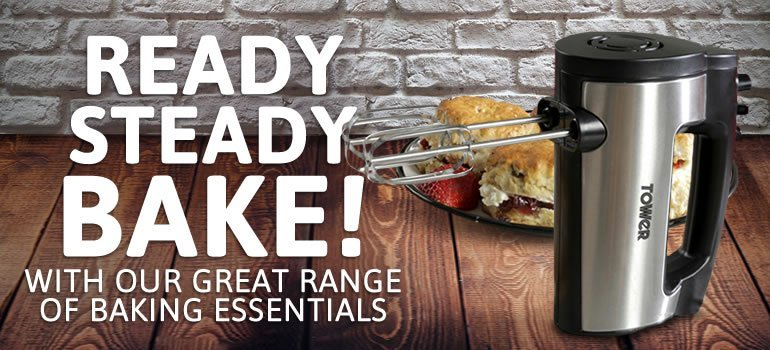 Ready, Steady, Bake! With our great range of baking essentials