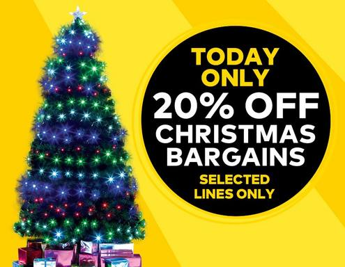 Today Only - 20% OFF Selected Chrsitmas Bargains - Shop All Deals