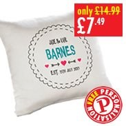 Personalised Est. Cushion Cover