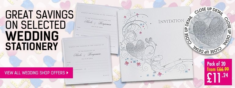 Great Savings On Selected Wedding Stationery