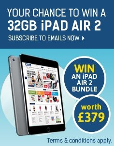 Subscribe To Emails Now For Your Chance To Win A 32GB iPad Air 2
