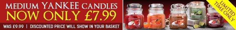 Medium Yankee Candles - Now Only £7.99