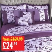 Opulent Butterfly Full Room Bedspread And Duvet Set