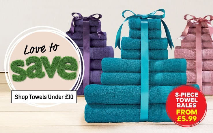 View Full Towels Under £10 Range