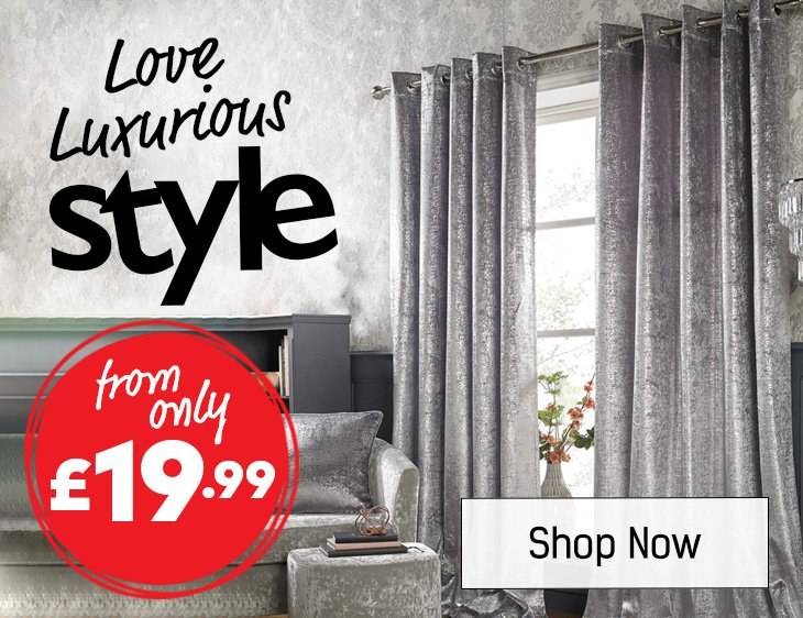 Love Luxurious Style - Curtains - Shop All Homewares