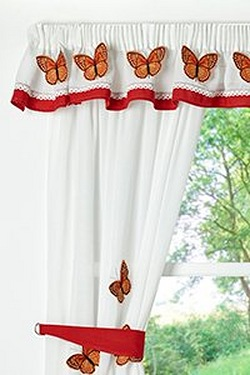 Butterfly 3D Kitchen Curtains With ...
