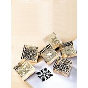 6 Crystal Rubber Stamp Set
