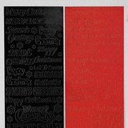 Red & Black Xmas Stickers - Wording