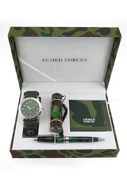 Kids Armed Forces Watch Gift Set