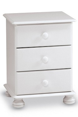 Richmond 3 Drawer Bedside Table