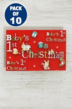 10 Baby's 1st Christmas Gift Tags