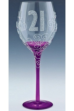 Clear Wine Glass - Age 21