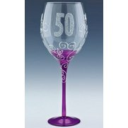 Clear Wine Glass - Age 50