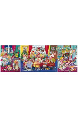 Christmas Family Meal Triptych Jigsaw