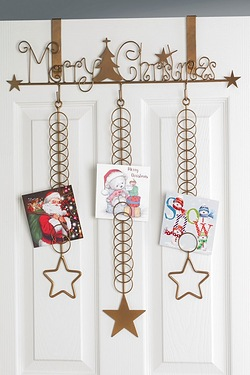 Overdoor Merry Christmas Card Holder