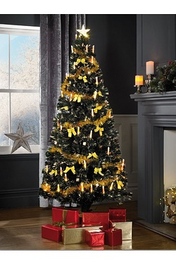 Gold Optic Candle Tree - Gold