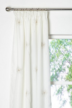 Chloe Embroidered Lined Voile Penci...