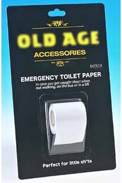Old Age Emergency Toilet Paper