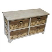 4 Maize Drawer White Wash Rectangul...