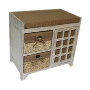 2 Maize Drawer White Wash Cabinet S...