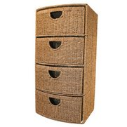 4 Drawer Bow Front Seagrass Storage...