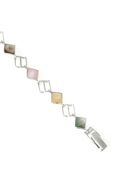 Silver Mother Of Pearl Bracelet
