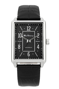 Gents Ben Sherman Black Leather Watch