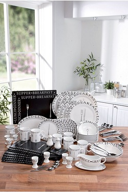 100-Piece Black/White Vintage Scrip...