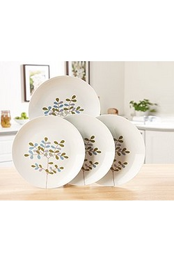 Set Of 4 Songbird Dinner Plates