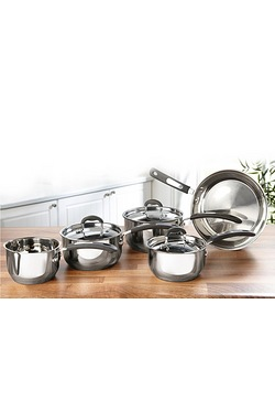 5-Piece Stainless Steel Cookware Set