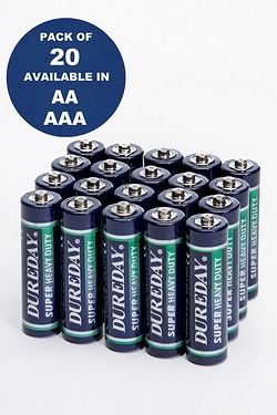 Pack of 20 Dureday Batteries