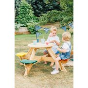 Plum Circular Picnic Table With Col...
