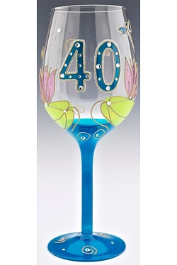 Julia Childs Dragonfly 40th Wine Glass