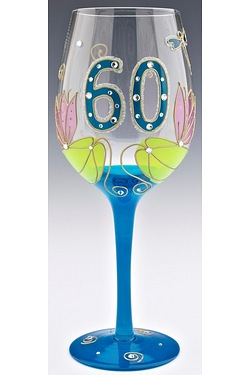 J.Childs Dragonfly 60th Wine Glass