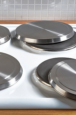 Set Of 4 Hob Covers - Stainless Steel