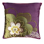 Faux Silk Flower Cushion