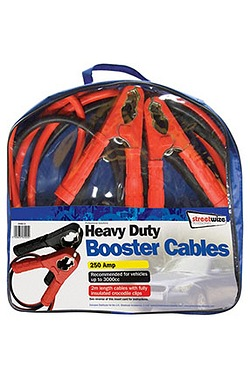 Booster Cables - 2m HD 250 Amp for up to 3000cc