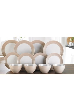 12-Piece Ribbed Dinner Set