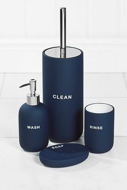 4-Piece Rubberised Bathroom Set