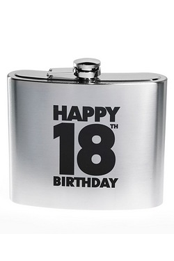 Happy 18th Birthday Hipflask